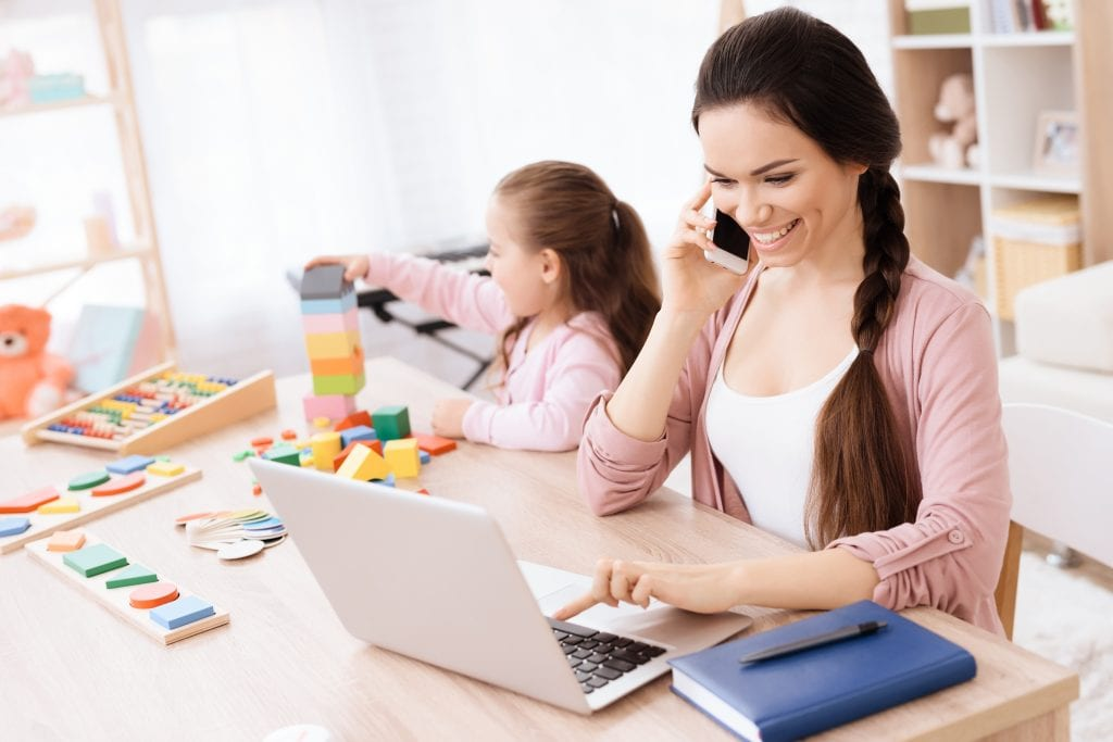 Work At Home Mom on Call