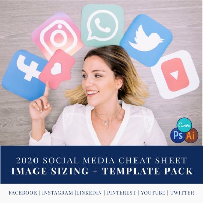 2020 Social Media Cheat Sheet + Template Pack